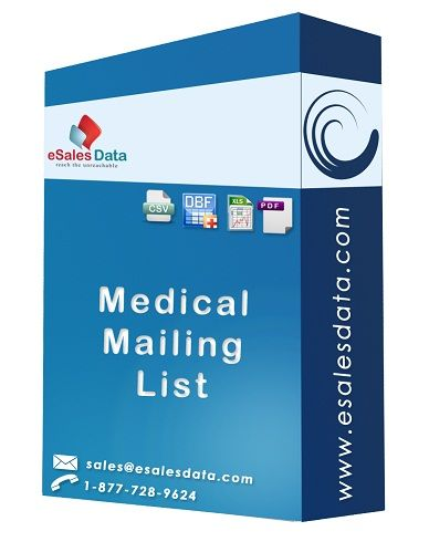 eSalesData can supply you with complete contact information on medical professionals throughout the country and that includes over 750,000 doctors in nearly every field of medicine. We can also supply you with medical lists of nurses, pharmacists, therapists and a host of other professions allied to the medical field.