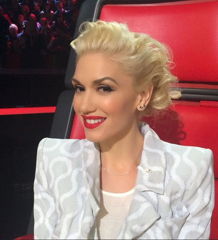 Gwen Stefani for The Voice. Makeup: Gregory Arlt. Hair: Danilo. Styling: Petra Flannery.
