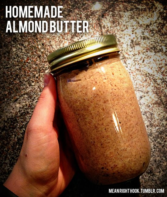 Ingredients:3 cups raw unsalted almonds2 tablespoons of coconut oildash of sea salt Optional add ins:1 tablespoon of honey1 tablespoon of cinnamon You do need a high powdered blender. I Using the milling blade, I blended 1 cup of almonds at a time until it was like flour consistency then I added in the oil, sea salt, honey and cinnamon until it was creamy.