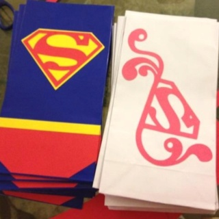 Candy bags4Th Birthday, G S 4Th, Birthday Parties, Liam Superman, Parties Ideas, Candies Bags, Superman Parties, Birthday Ideas