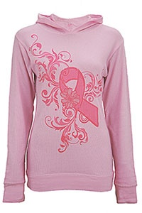 Pink Ribbon Thermal Hoodie at The Breast Cancer Site