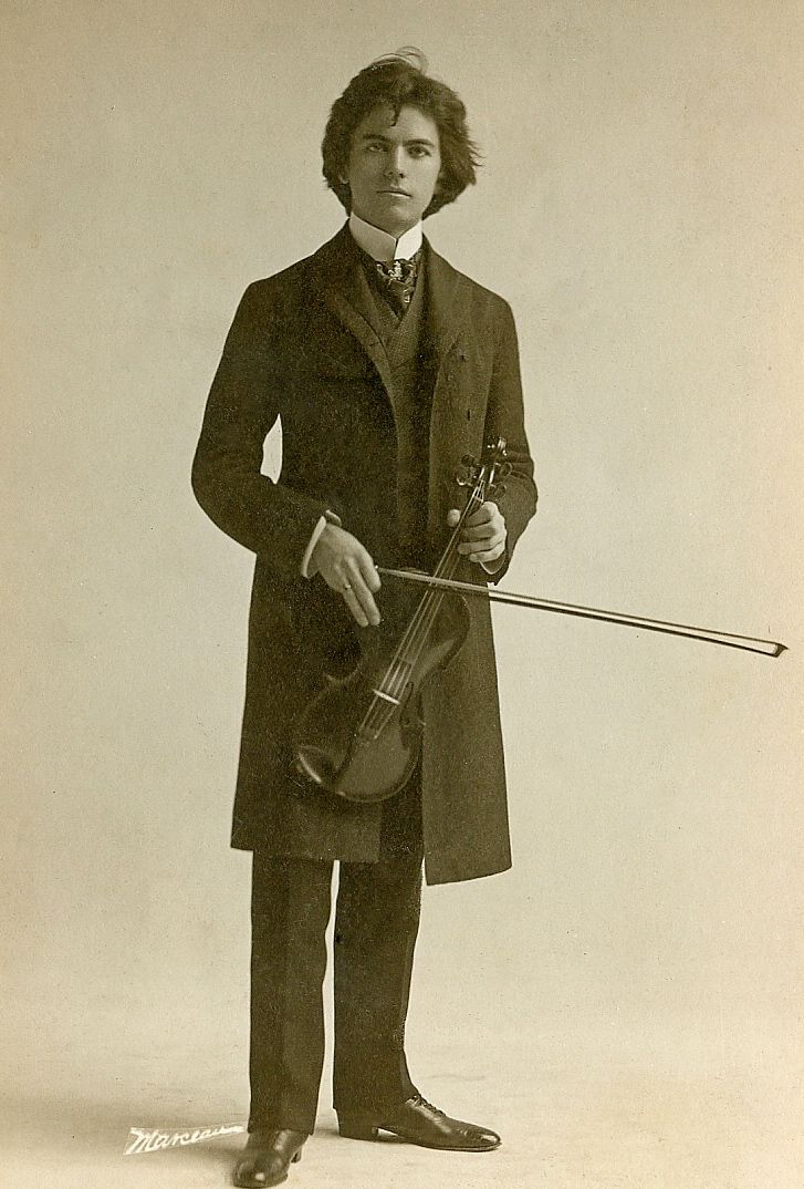 +~+~ Vintage Photograph ~+~+  Cabinet photo of a young violinist from New York and a very handsome one at that!