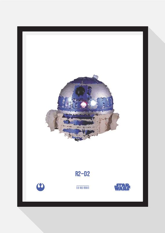 R2-D2 Portrait by TheDesignCollection on Etsy