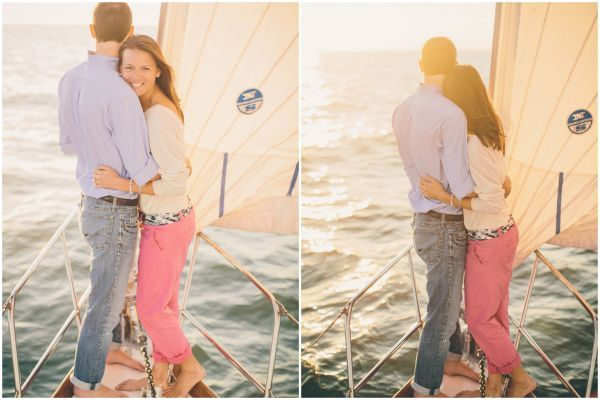 nautical engagement on a boat