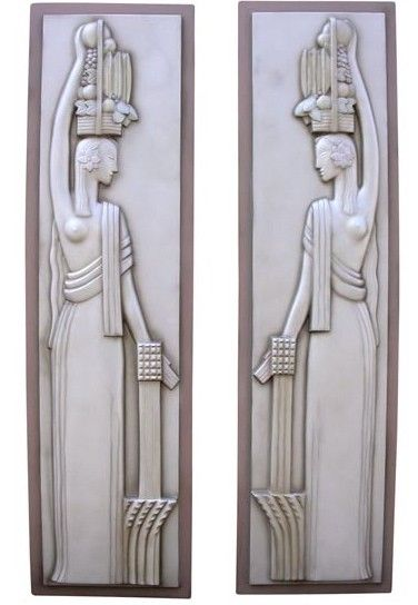 Century of Progress Art Deco, Machine Age, Sculptural Relief