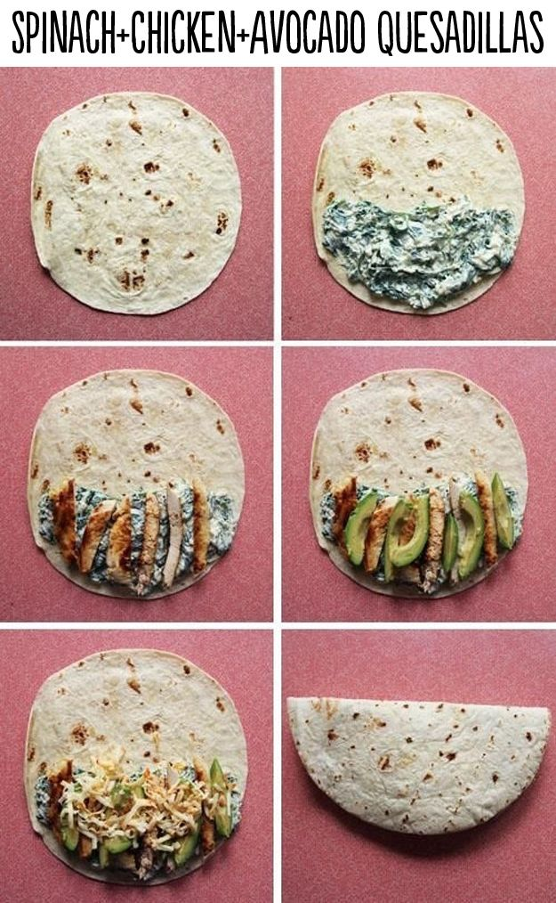 29 Life-Changing Quesadillas You Need To Know About: Spinach Chicken Avocado Quesadilla