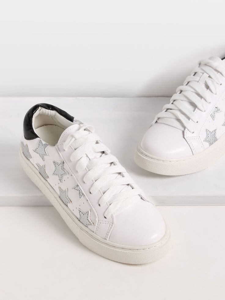 Shop Round Toe Lace-up Star Sneakers online. SheIn offers Round Toe Lace-up Star Sneakers & more to fit your fashionable needs.
