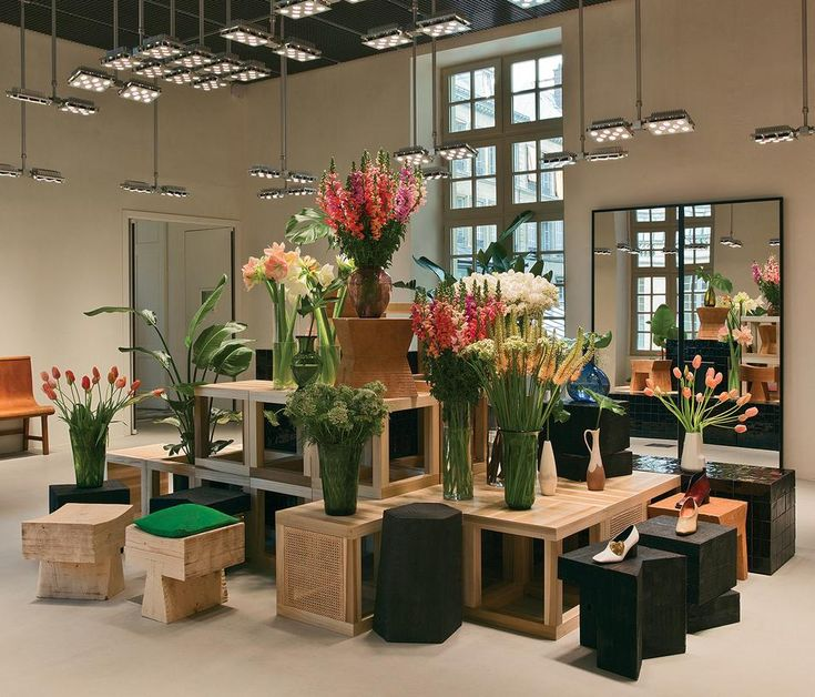 <strong>SPRING LOOK </strong>  A view of the shoe showroom in Céline's new Parisian headquarters, the design of which was overseen by creative director Phoebe Philo.