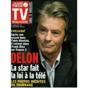 """Alain Delon revient dans """"Frank Riva"""" : La star fait la loi à la télé, dans TV Magazine Ouest-France n°17810 du 09/05/2003 [couverture et article mis en vente par Presse-Mémoire]"""