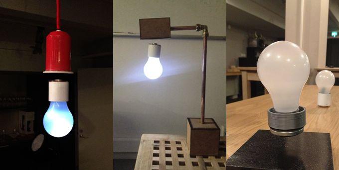 長らく使われ、当たり前になっている電線による電気の供給方法。 室内のランプも電線が無いのは、内部バッテリー式のものでした。 しかし、キックスターターに登場した「FLYTE」は、非接触型で電源を供給するランプのプロジェクト。 「FLYTE」電線を介さず電気を供給する方式のため、台座から浮いてるようなデザインが可能となっています。   磁場を利用した非接触型の電力伝送は技術としては昔からありますが、Wireless Power Consortium(WPC)によって国際規格が2010年に定められた比較的新しい分野です。 スマートフォンへの電源供給などは実用化されていますが、このような形でランプに使われた例は見たことがありませんね〜  キックスターターでも、注目を集めており目標額の6倍にあたる5000万円以上が集まっています。 電源供給方法が「FLYTE」のイノベーティブなデザインの元となっています。 製品の機能性とデザインがうまく結びつくことで、魅力的な製品が出来る良い事例ですね。    Flyte: Levitating Light