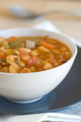 cannellini bean soup (close up)   Soups   Pinterest   Close Up, Beans ...