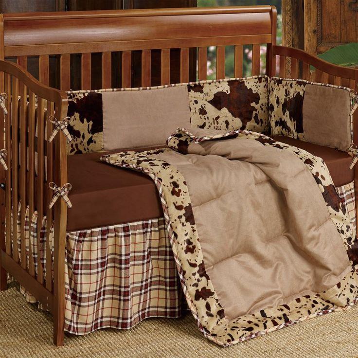 Cowhide Print Western Crib Bedding Set - Your Western Decor