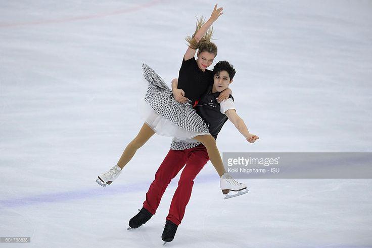 Marjorie Lajoie and Zachary Lagha of Canada compete in the junior ice dance short program during the ISU Junior Grand Prix of Figure Skating - Yokohama on September 10, 2016 in Yokohama, Japan.