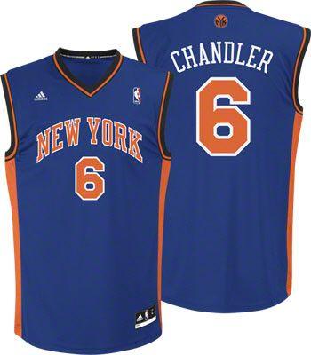 New York Knicks Tyson Chandler 6 Blue Authentic Jersey Sale