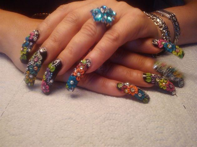 Sinaloa Nails Pictures | estilo sinaloa - Nail Art Gallery