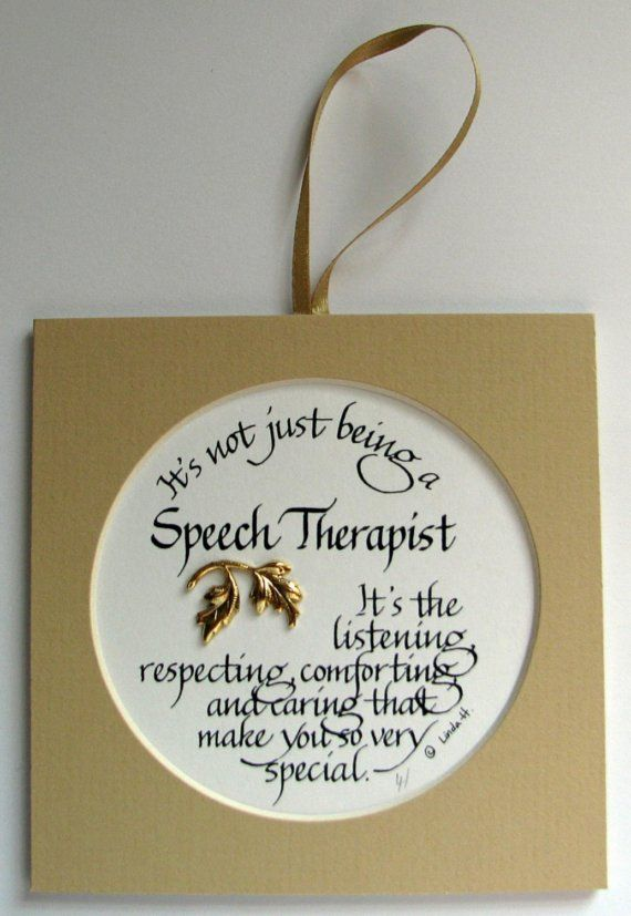 It's Not Just Being A Speech Therapist... by ...
