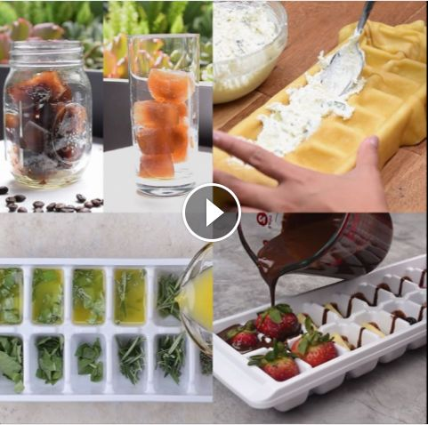 Click through to video for 4 super cool ways to use ice cube trays!