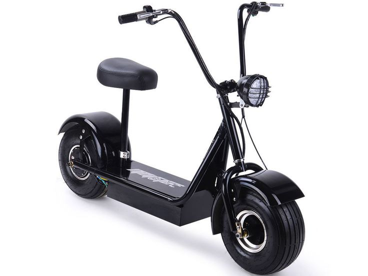 MotoTec FatBoy 48v 500w Electric Scooter Maximum Rider 250 lbs Large Headlight   eBay