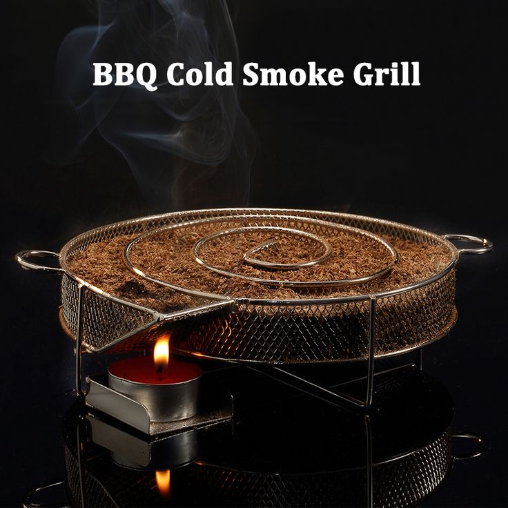 Stainless Steel Wood Chips Grill Basket Smoker Picnic BBQ Cold Smoking Generator Tray