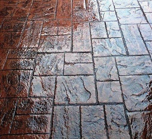 Pavimento de hormig n impreso con ankare zaline cuero Hormigon impreso interior