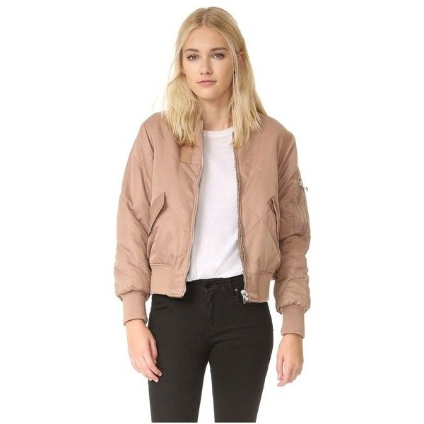 Whistles Carter Reversible Bomber Jacket (5,420 MXN) ❤ liked on Polyvore featuring outerwear, jackets, nude, quilted bomber jacket, whistles jacket, reversible quilted jacket, quilted jacket and blouson jacket