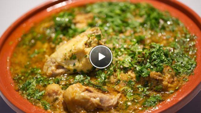 Kip uit de tajine met ras-el-hanoutsaus & eitjes met za'atar uit de tajine - recept | 24Kitchen