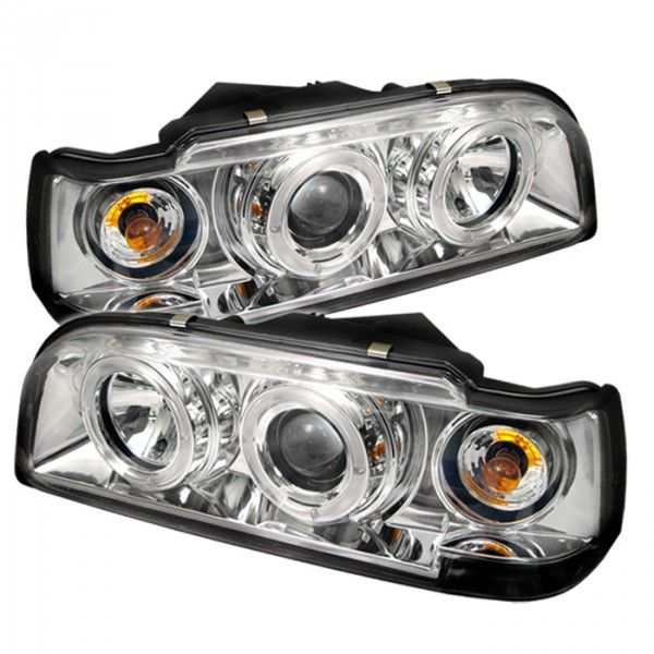 Spyder Auto 444-VO85092-HL-C | 1996 Volvo 850 Chrome/Clear Halo Projector Headlights for Sedan