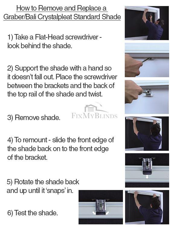 19 Best Blind Repair Instructions Images On Pinterest