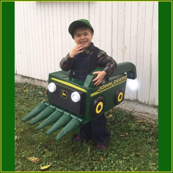 Farmer Costume #johndeere #combine #farmlife #farmboy #harvesttime #trickortreat