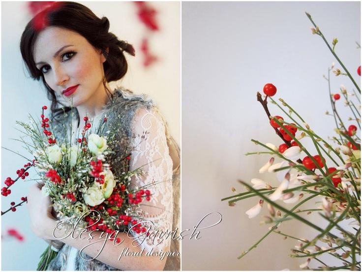 Олеся Гавриш - флорист-дизайнер - Ягоды на снегу