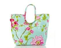 Lou Harvey beach bag in Rose Aqua