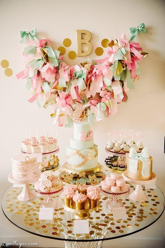 Ideas para crear una mesa dulce en tonos pastel.