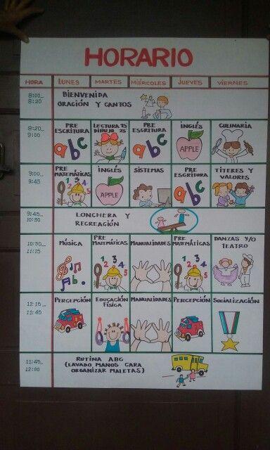 Horario preescolar