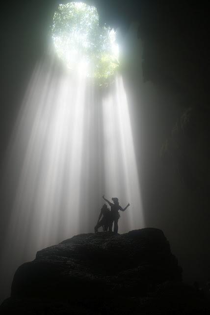 Goa Jomblang (vertical cave and primeval forest) at Wonosari, Yogyakarta - Indonesia.