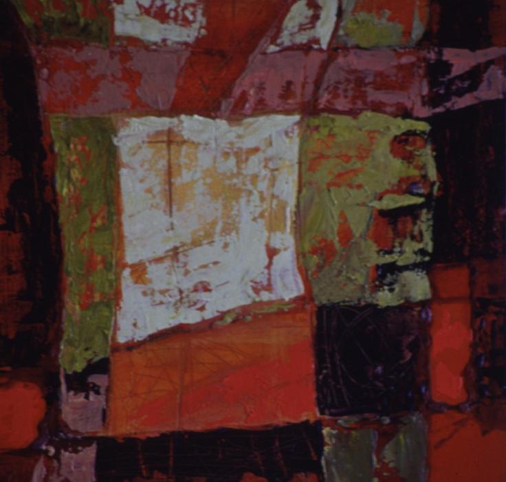 Serie textil 2   acrilico s madera  35 x 35 cm 2001