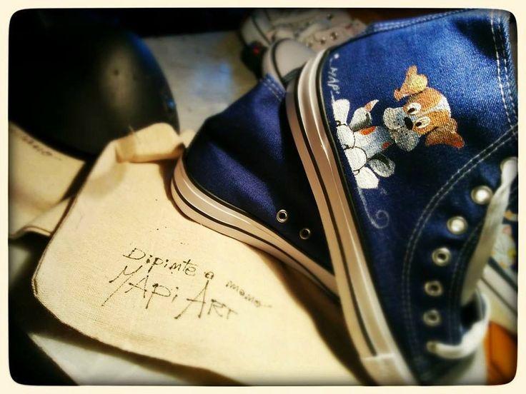 Sneakers Scarpe tela dipinte a mano personalzzabili di MapiArt su Etsy