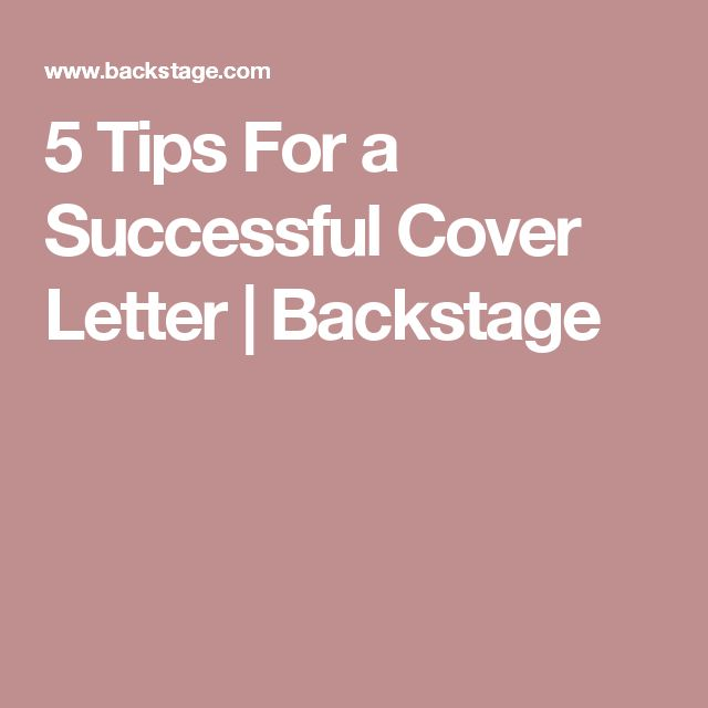 5 Tips For A Successful Cover Letter
