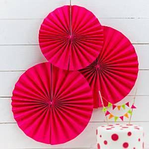 Neon Pinker Geburtstag - Fächer Hängedeko 36cm