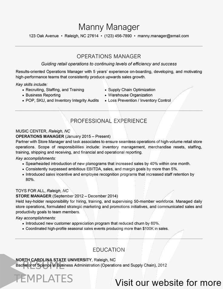 easy resume examples Best in 2020 Job resume template