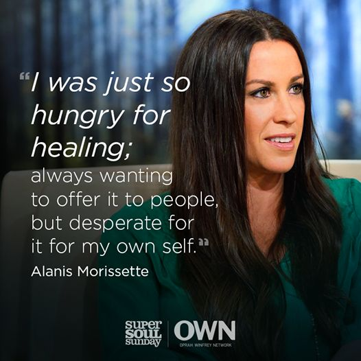 On Sunday, Alanis Morissette shares how she was able to use her art as a catalyst for helping herself and others become the people they are meant to be. Watch with us from anywhere in the world, at 11 AM ET/PT.