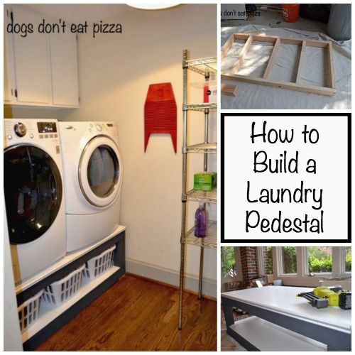 Tired of stooping over to do laundry? Try building this pedestal for your laundry room!