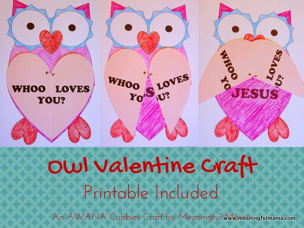 This Owl Valentine Craft with Printable is a fun way to bring a little faith and Jesus into Valentine's Day. This is part of my AWANA Cubbies series.