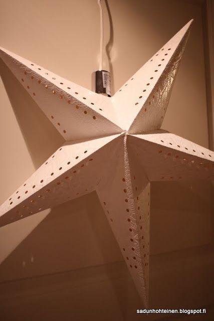 Paperitähti valoilla DIY