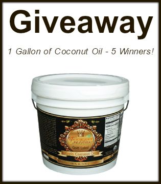 Coconut Oil Giveaway - 5 Winners - The Coconut Mama