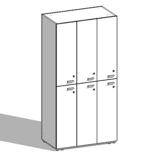 Producto: Casillero 6 puertas 165x81x45 - Mobiliario