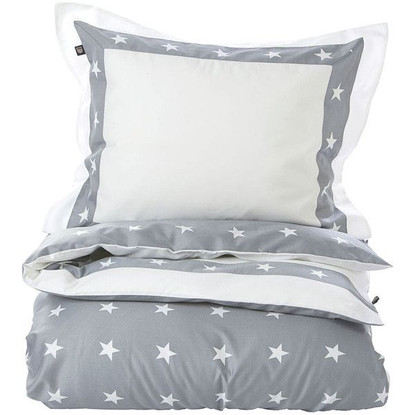 Gant Star Border Duvet Cover - Grey - Single - 140 x 200 cm (205 CAD) ❤ liked on Polyvore featuring home, bed & bath, bedding, duvet covers, grey, gant, egyptian cotton bedding, gray bedding, star bedding and grey bedding