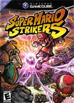 "Super Mario Strikers (Nintendo), GameCube; 5-a-side football (soccer) game developed by Next Level Games.  The game was released in Europe & North America in late 2005. It features the basic aspects & objectives of a football game. Each team consists of a captain character from the Mario series & 3 secondary Mario characters known as ""sidekicks"". player can use items—bananas, red shells, etc.—to impede opponent. Strikers has sold 950K in North America by 2007."