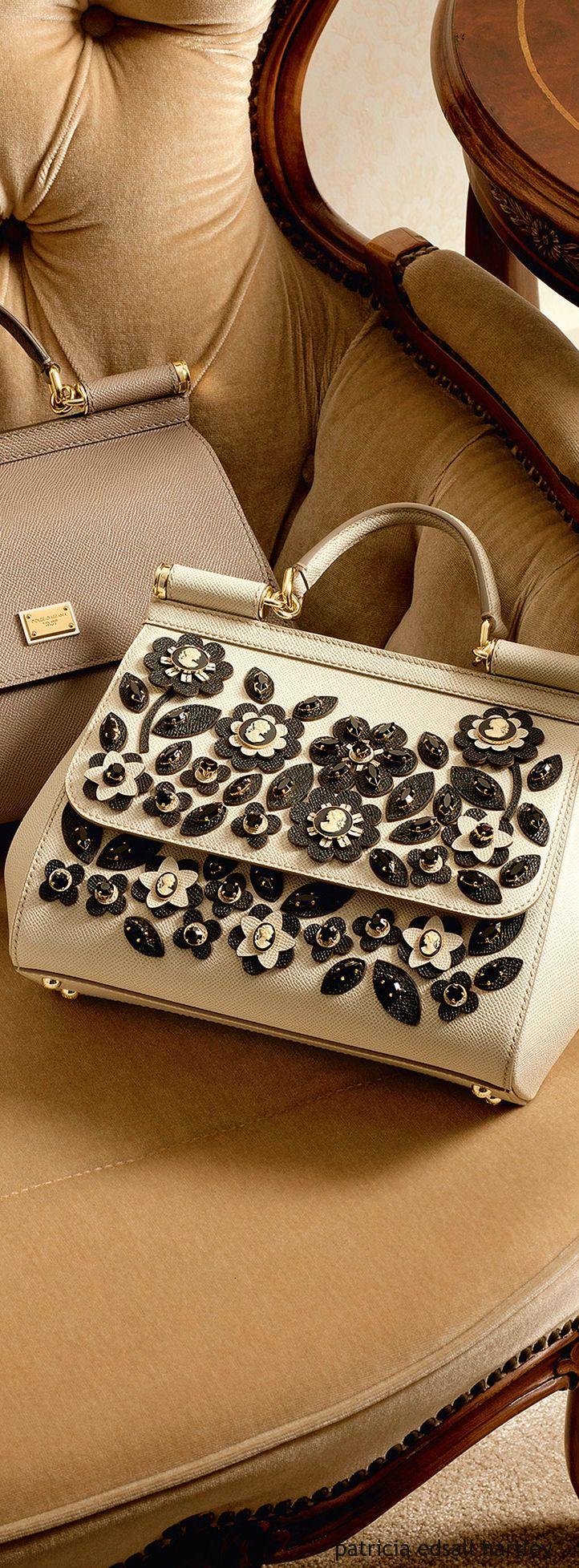 Dolce & Gabbana ~ Winter White Leather Embellished Satchel 2016