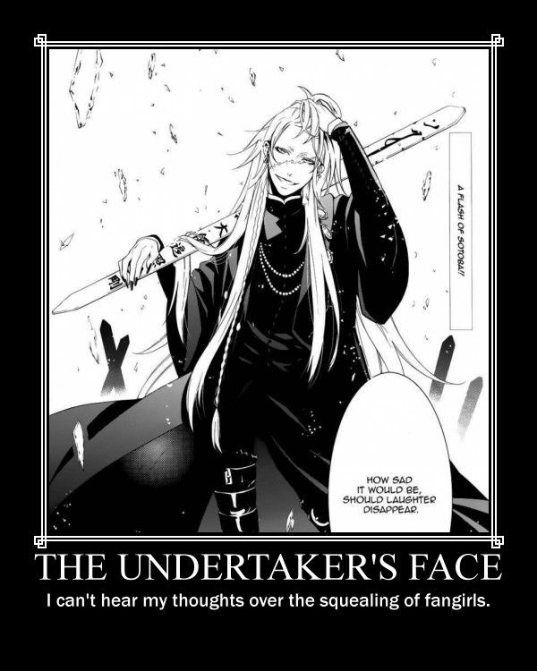 Undertaker Is So Handsome Black Butler FunnyBlack UndertakerFull BodyA