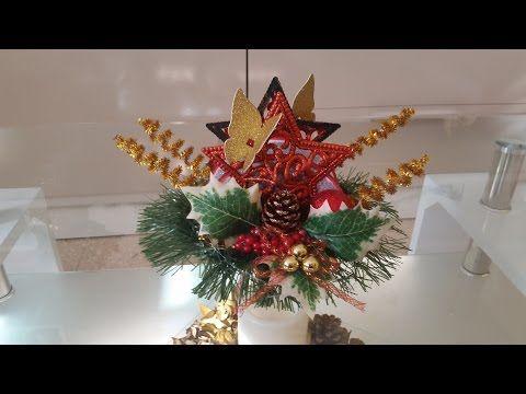 como hacer un  servilletero de navidad diferente - YouTube
